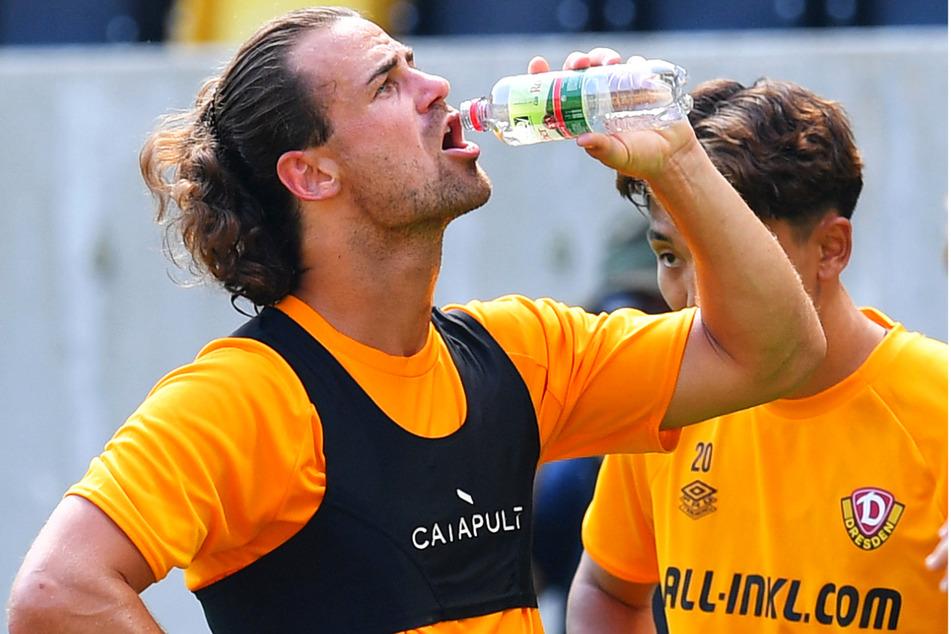 Bei der Hitze war Trinken enorm wichtig. Hier Yannick Stark (30).