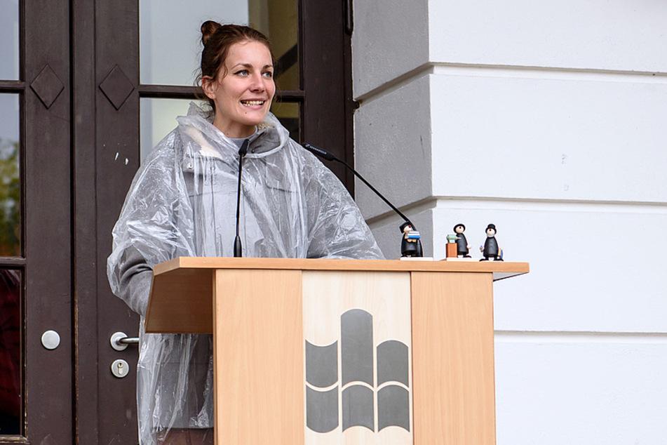 Studierendenpfarrerin Nina-Maria Mixtacki sprach den neuen Studenten Mut zu.