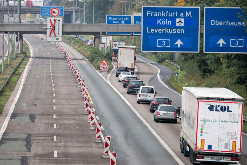Die A1 und die A3 bilden das Autobahn-Kreuz Leverkusen. (Archivfoto).