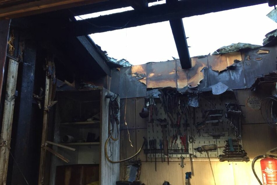 Das Feuer richtete großen Schaden in der Hütte an.