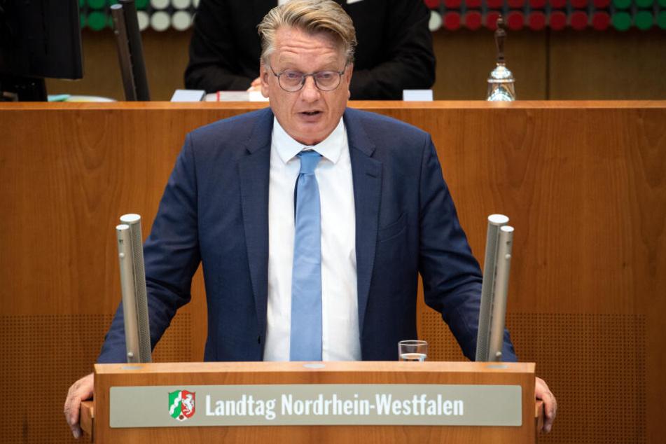 Markus Wagner, AfD-Fraktionsvorsitzender in NRW, wollte kein Zeichen gegen rechte Hetze und Drohungen setzen.