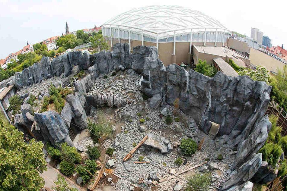 Noch sind die Bauarbeiten in der Hochgebirgslandschaft in vollem Gange, am 1. August soll dann die große Eröffnung sein.