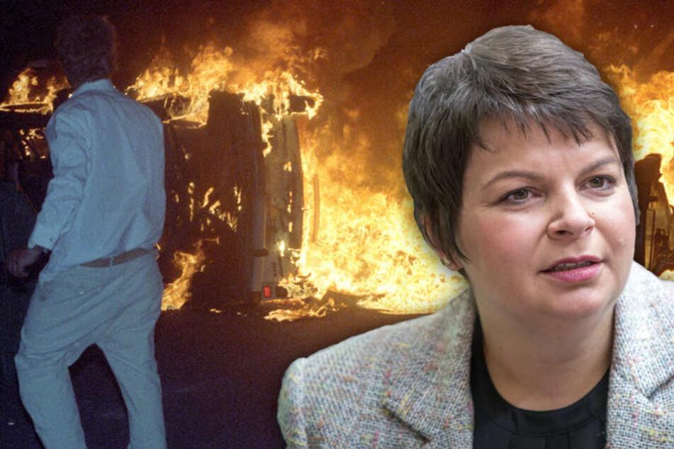 Stefanie Drese entschuldigte sich im Namen des Landes für das Versagen 1992.