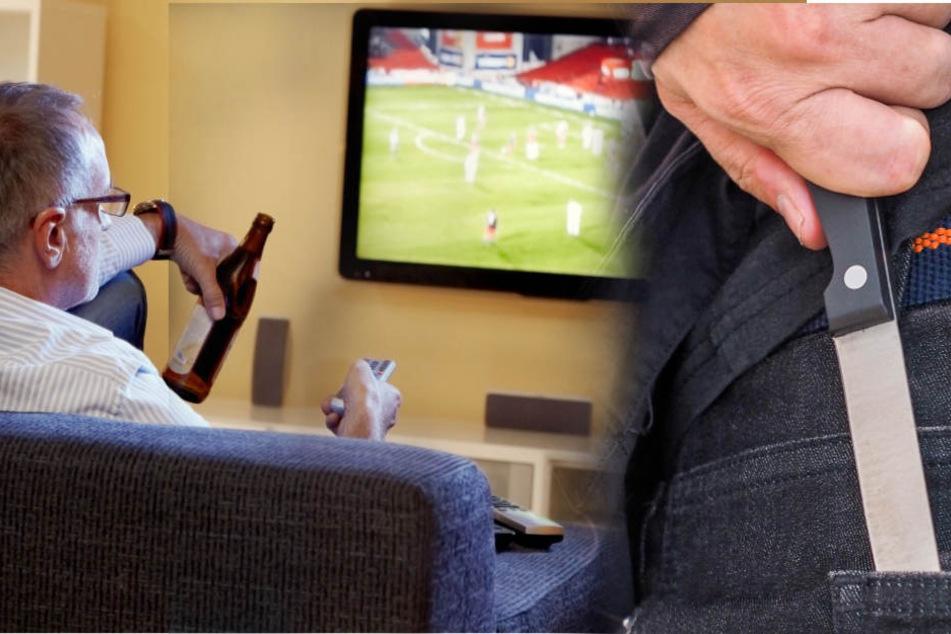 Wegen einem wohl zu lauten Fernseher endete ein Streit damit, dass der vom Lärm genervte 47-Jährige seinen Bekannten mit dem Messer angriff. (Symbolbild)