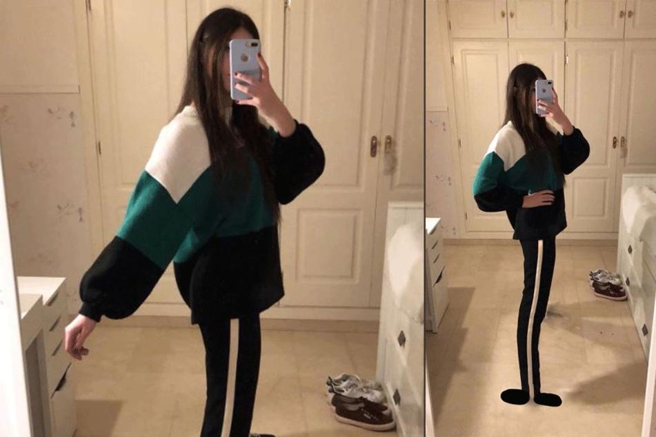 Manche sehen zwei sehr dünne Beine, andere das Offensichtliche: eine Hose mit Streifen.