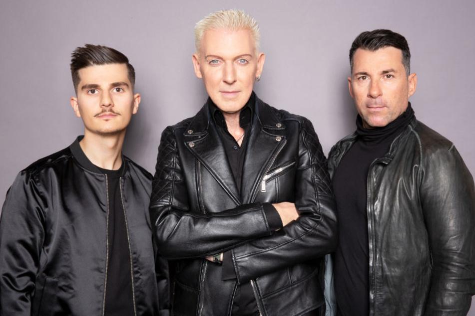 "Etnik Zarari (links) komplettiert das Trio ""Scooter"" um Frontmann H.P. Baxxter und Michael Simon."
