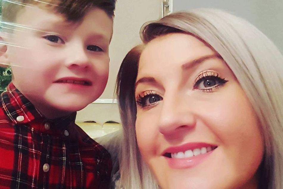 Tricia Jordan mit ihrem Sohn Luca auf einem Facebook-Selfie.