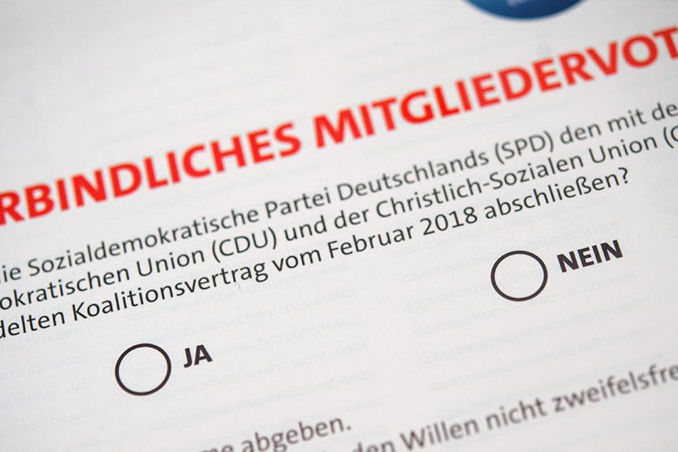 Mit Spannung wird das Ergebnis des Mitgliedervotums der SPD erwartet.