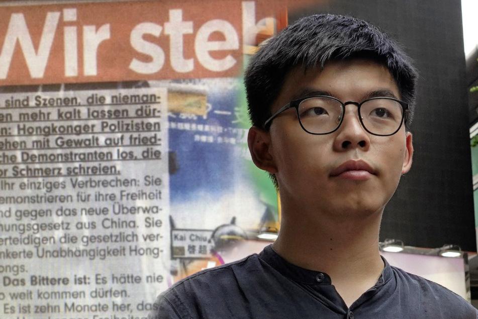 Wirbel um angebliches Bild-Interview: Hongkong-Aktivist Wong wehrt sich