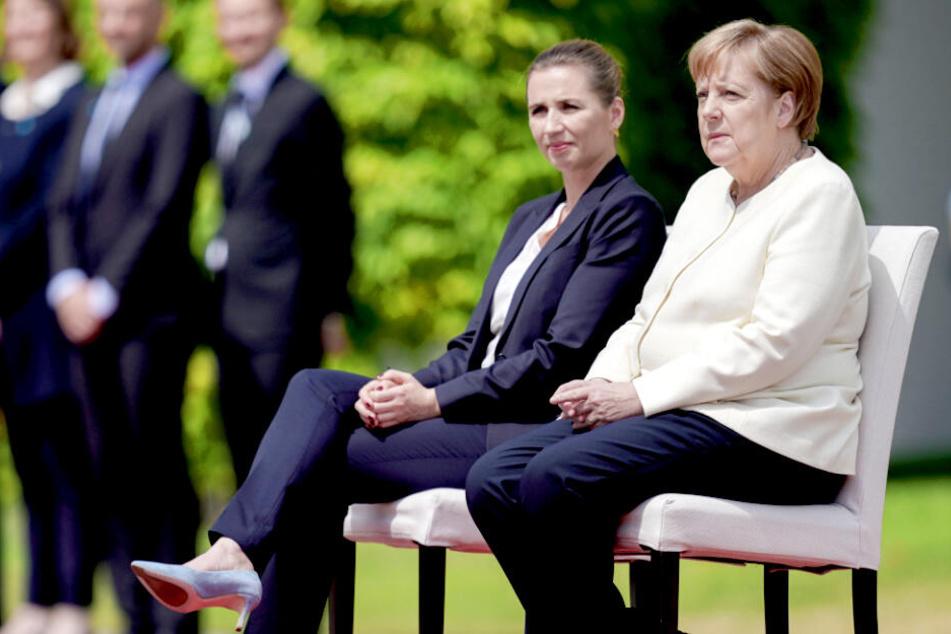 Nach drittem Zitteranfall: Merkel absolviert Begrüßung im Sitzen