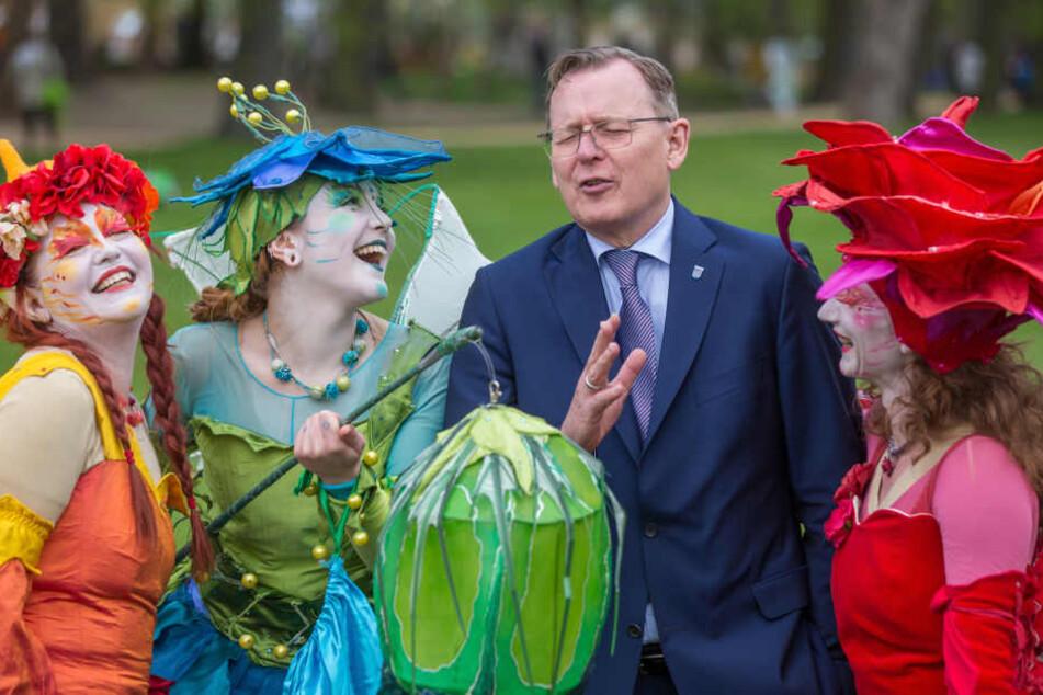 Ministerpräsident Bodo Ramelow ließ sich die Eröffnung nicht entgehen.