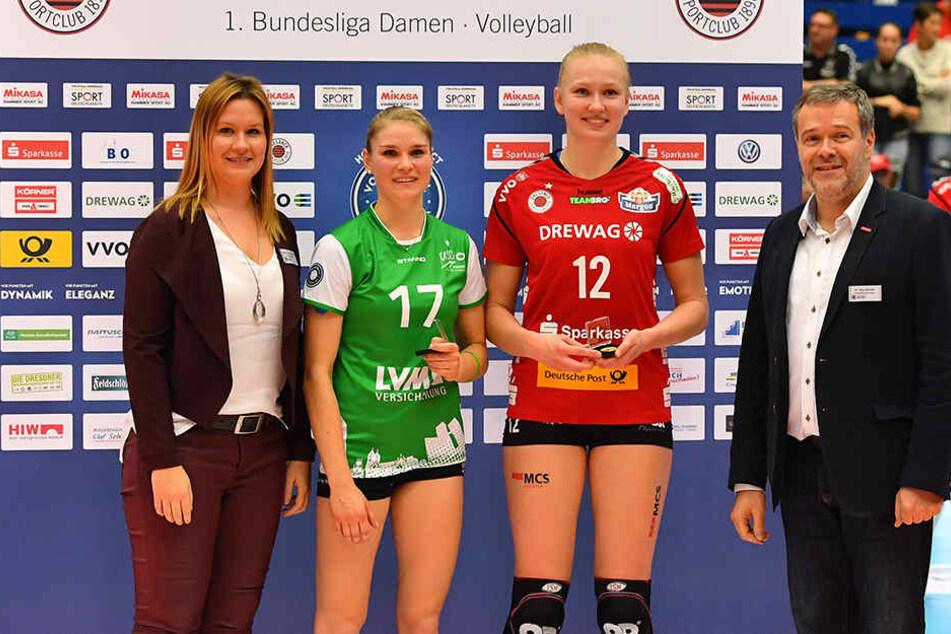 Piia Korhonen (12/DSC) und Ines Bathen (17/Münster) wurden als wertvollste Spielerinnen ausgezeichnet.
