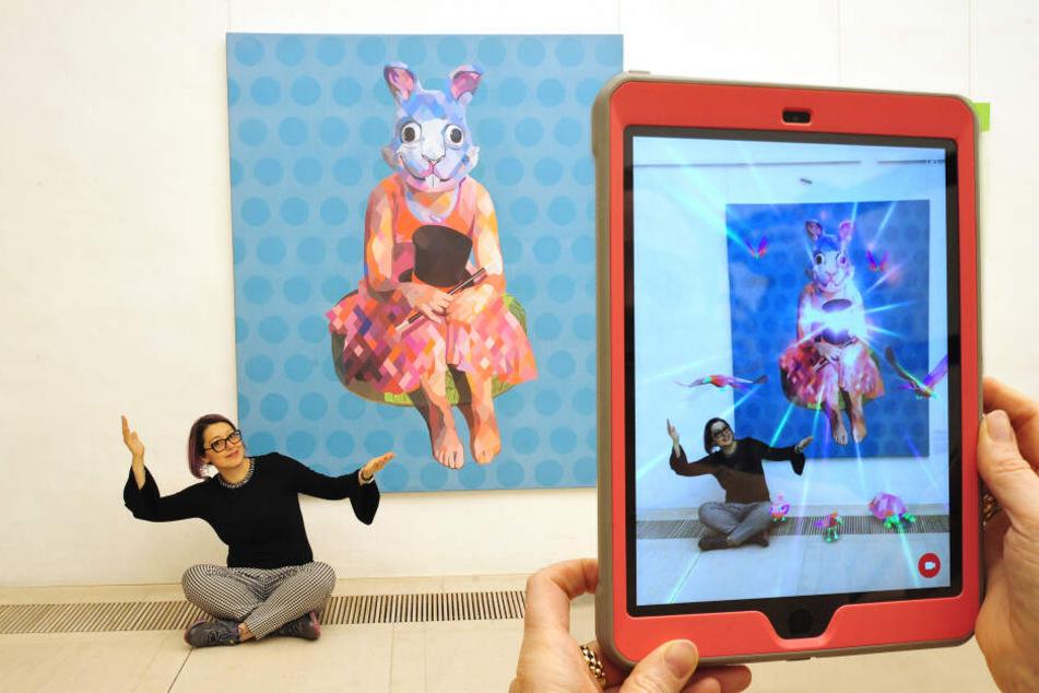 Per App werden die Bilder der Mexikanerin Yunuen Esparza zum Leben erweckt.