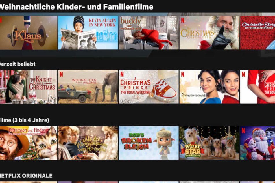 """Mit einem kleinen Trick findet man alle Netflix-Angebote, die unter die Kategorie """"Weihnachten"""" fallen. Sogar in Unterkategorien aufgegliedert."""