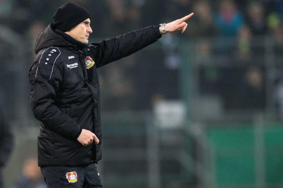 Mit dieser Schwalbe machte sich Leverkusen-Trainer Herrlich zum Gespött