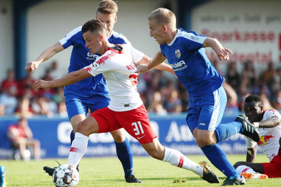Doe Roten Bullen holten sich den Sieg beim Testspiel gegen FC Grimma.
