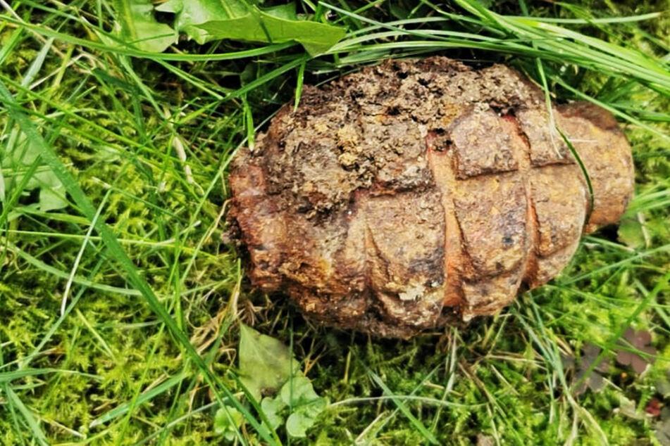 Diese Handgranate wurde von Kindern in der Straße Am Wiesengrund gefunden.