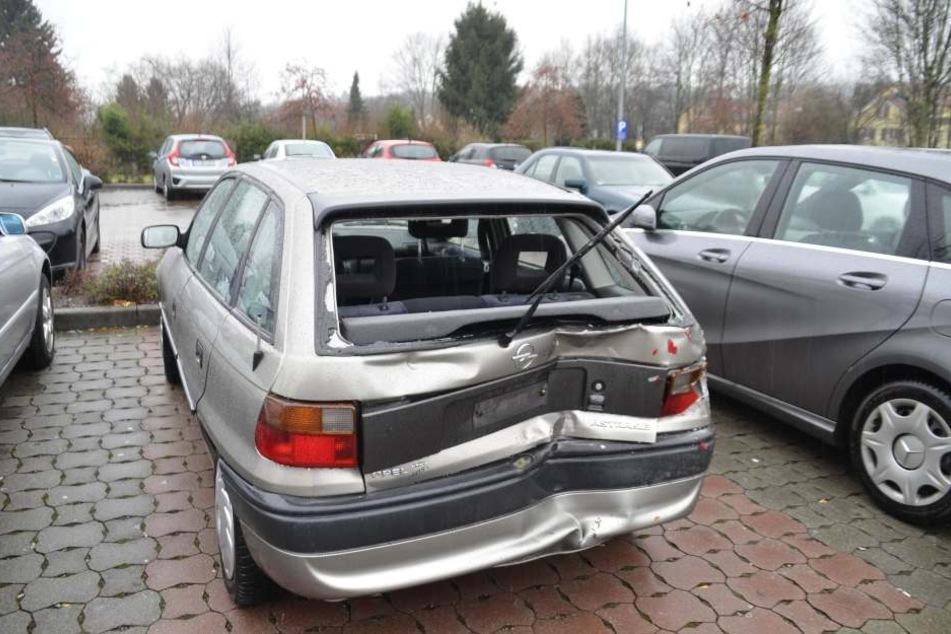 Einer der am Unfall beteiligten Autos.