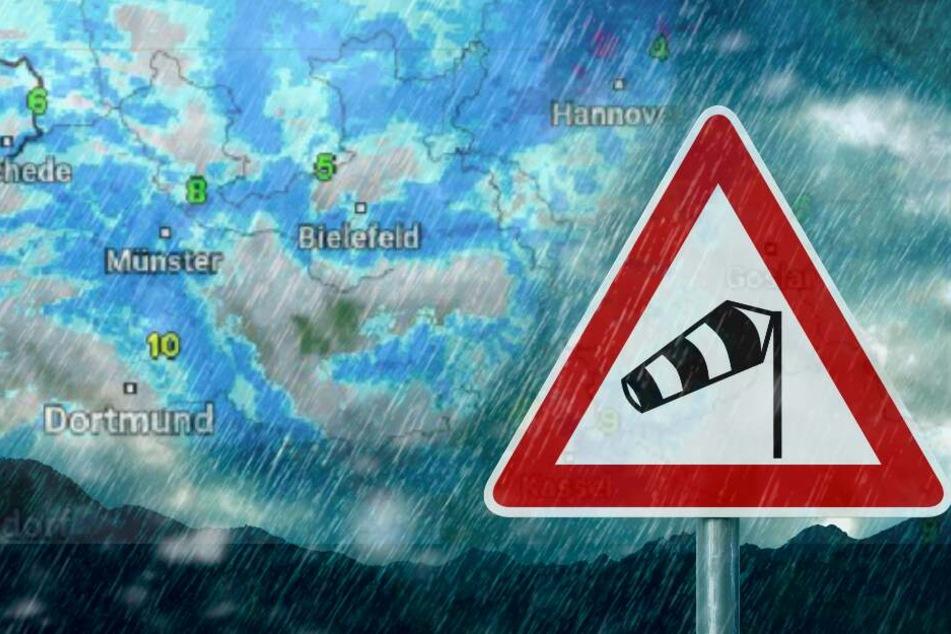 Heftiges Wetter-Chaos! Akute Sturmwarnung, Dauerregen und Schnee in OWL