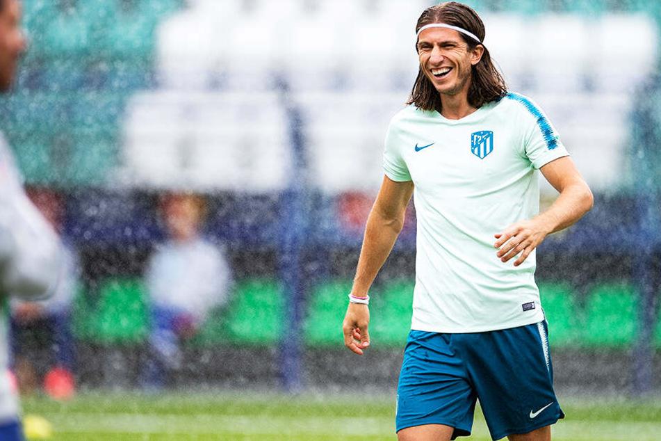 Bei Filipe Luís von Atlético Madrid soll der BVB nicht so aussichtsreich im Rennen sein.
