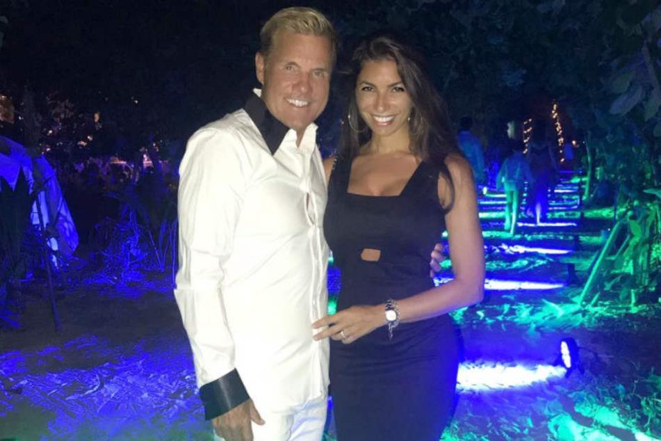 Dieter Bohlen und seine Freundin Carina feierten Silvester auf den Malediven.