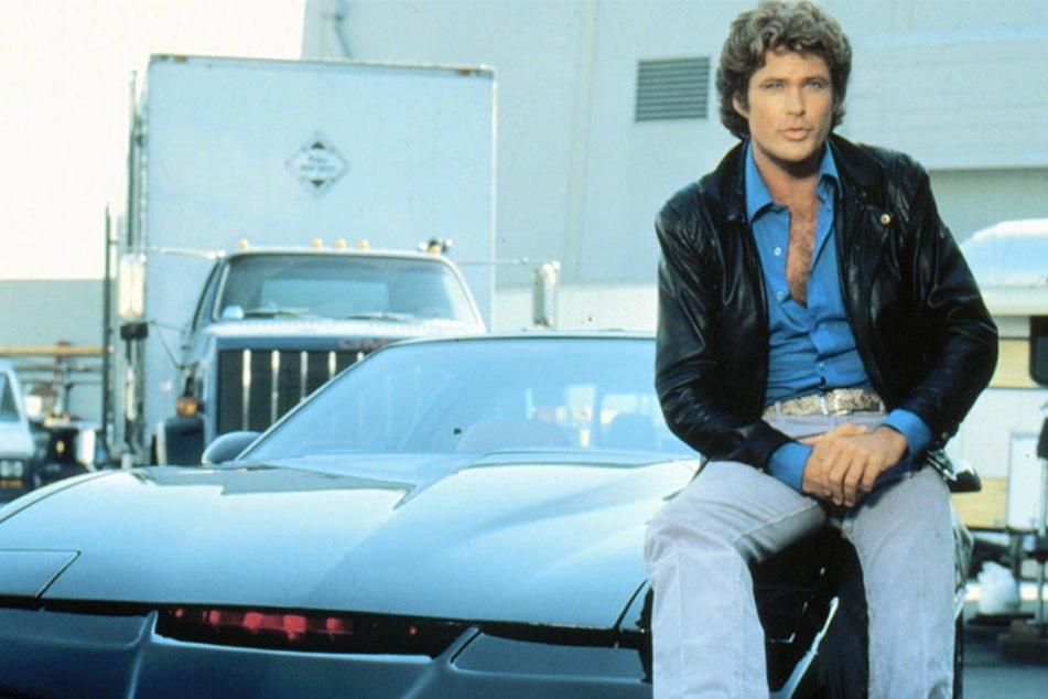 """In den Achtzigern eine große Nummer: David Hasselhoff (heute 66) in der Kultserie """"Knight Rider""""."""