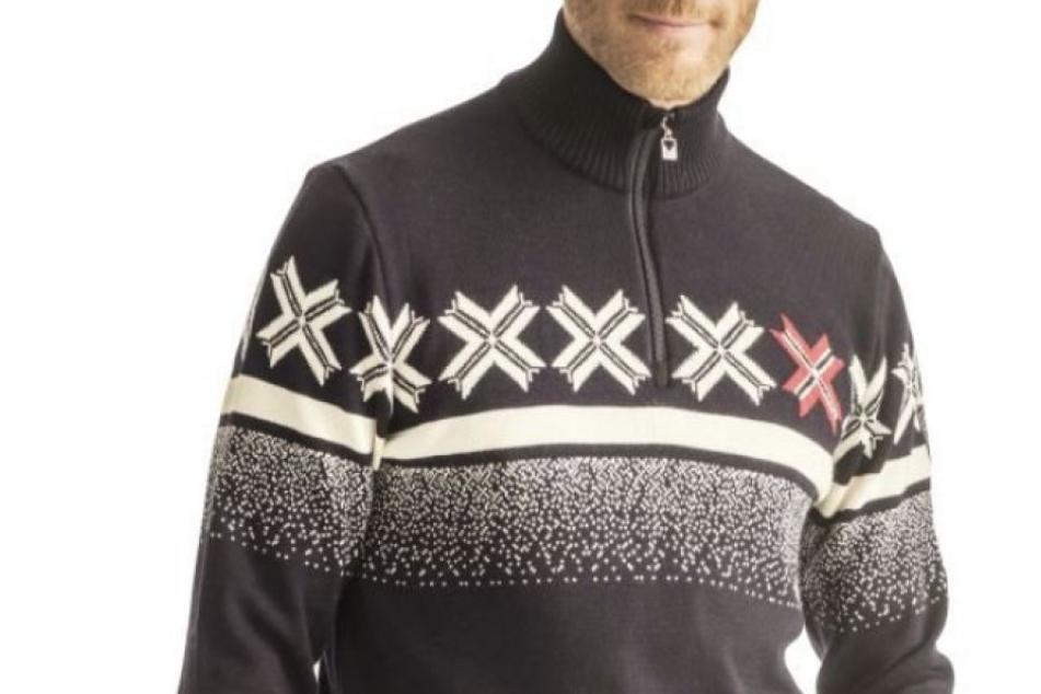 Mit diesem Pullover fährt das norwegische Ski-Alpin-Team nun zu den Olympischen Spielen.