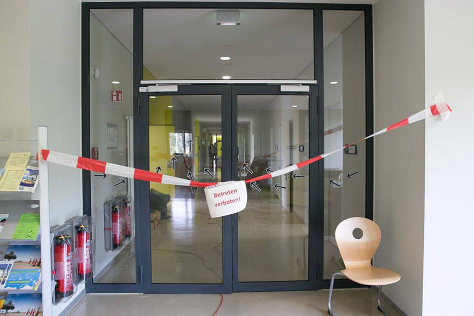Damals musste ein Teil der Schule abgesperrt werden.