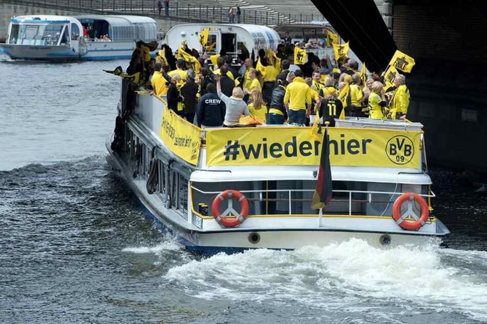Am 27. Mai findet das DFB-Pokalfinale statt. Tausende Fans von Dortmund (Foto) und Eintracht Frankfurt werden in der Stadt erwartet.