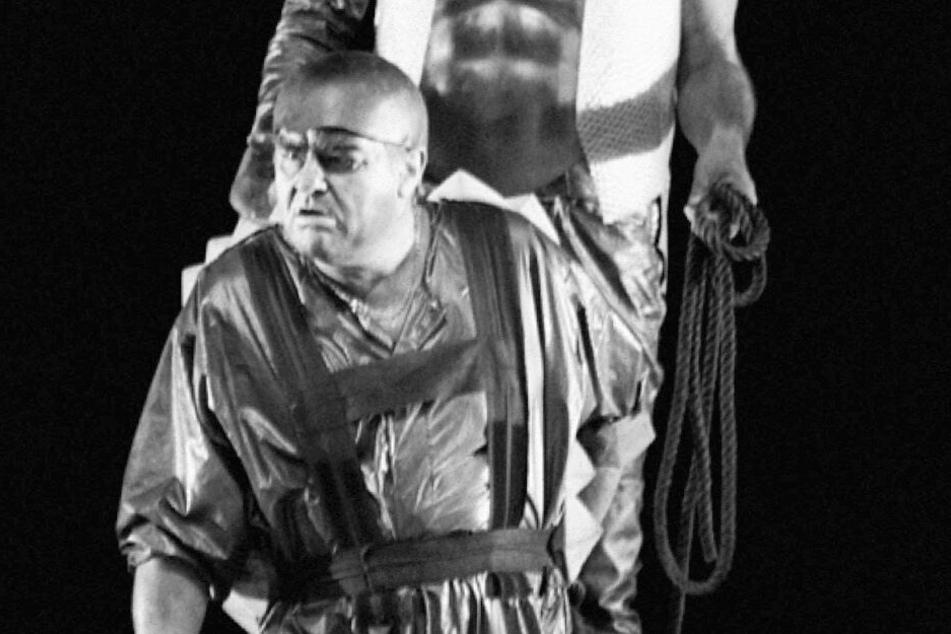 Ekkehard Wlaschiha 1994 in seiner Paraderolle des Alberich bei den 85. Richard-Wagner-Festspielen in Bayreuth.