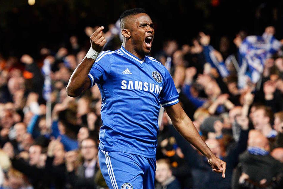 Samuel Eto'o spielte im Herbst seiner Karriere noch ein Jahr für den FC Chelsea.
