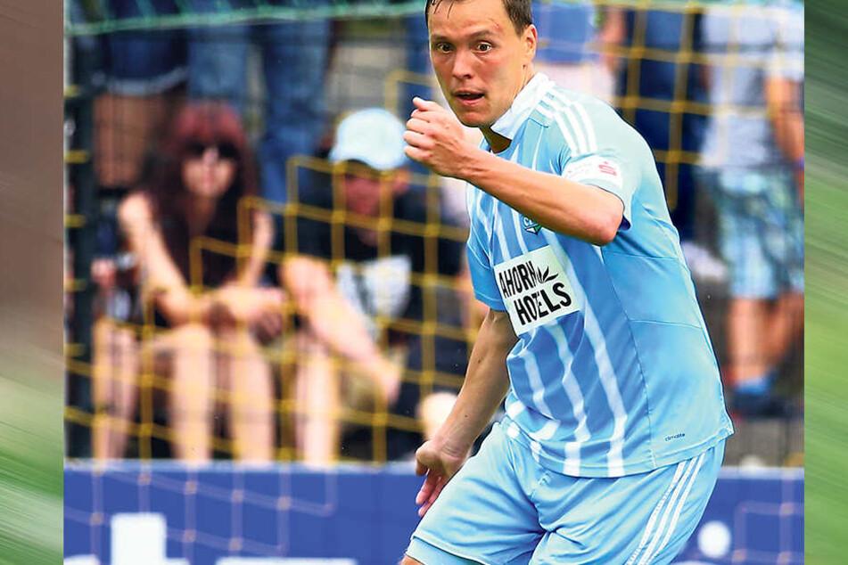 Alexander Bittroff kam im Januar vom damaligen Zweitligisten FSV Frankfurt zum CFC. Der Verteidiger bestritt seitdem 21 Drittligaspiele für die Himmelblauen.