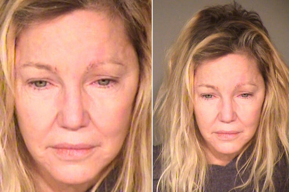 Die Schauspielerin Heather Locklear nachdem sie im Juni 2018 wegen eines Angriffs auf Rettungskräfte festgenommen wurde.