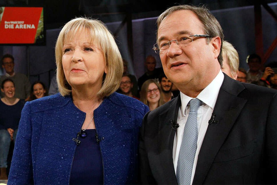 Könnten bald zusammen regieren: Eine Koalition zwischen Hannelore Kraft (SPD) und Armin Laschet (CDU) scheint am wahrscheinlichsten zu sein.