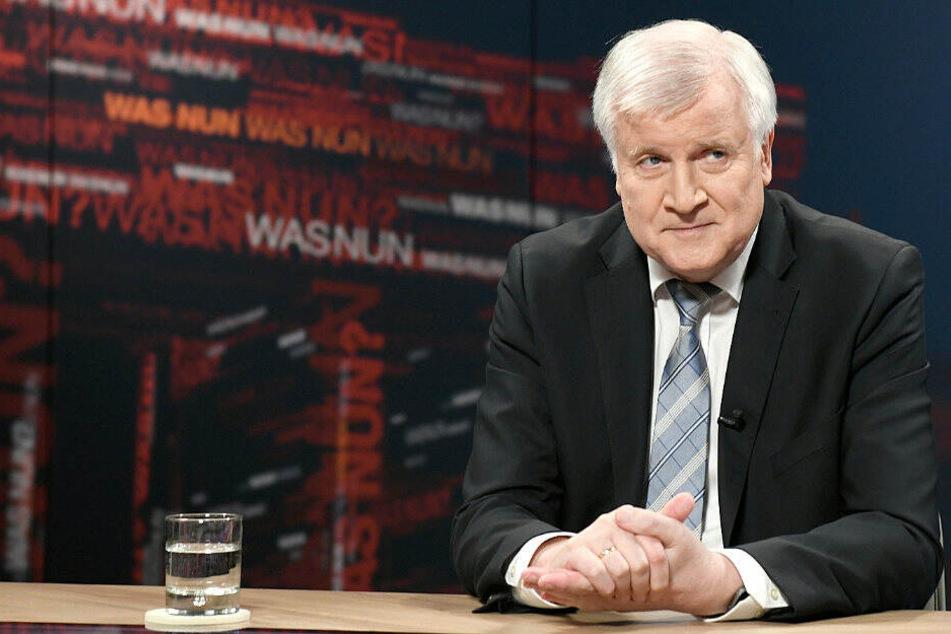 """Horst Seehofer bei der ZDF-Sendung """"Was nun?""""."""