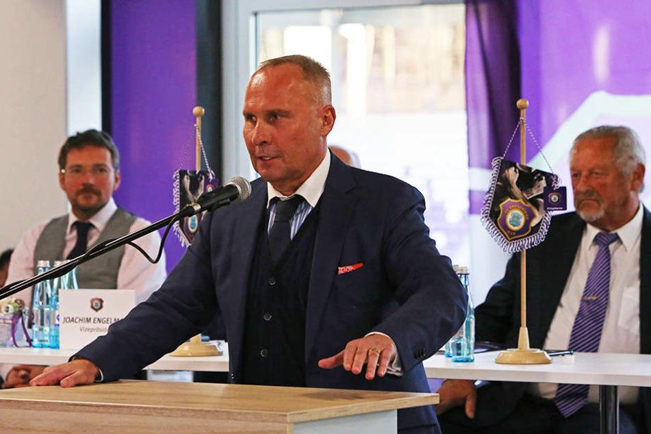 FCE-Präsident Helge Leonhardt konnte bei der Mitgliederversammlung positive Zahlen verkünden.