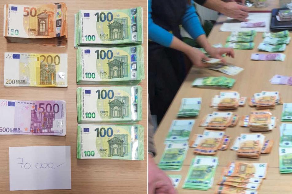 Auch Bargeld in Höhe von fast 100.000 Euro wurde sichergestellt.