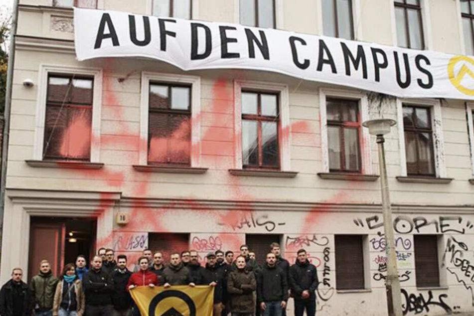 2017 gründete die Identitäre Bewegung das Hausprojekt in der Adam-Kuckhoff-Straße in Halle (Saale).