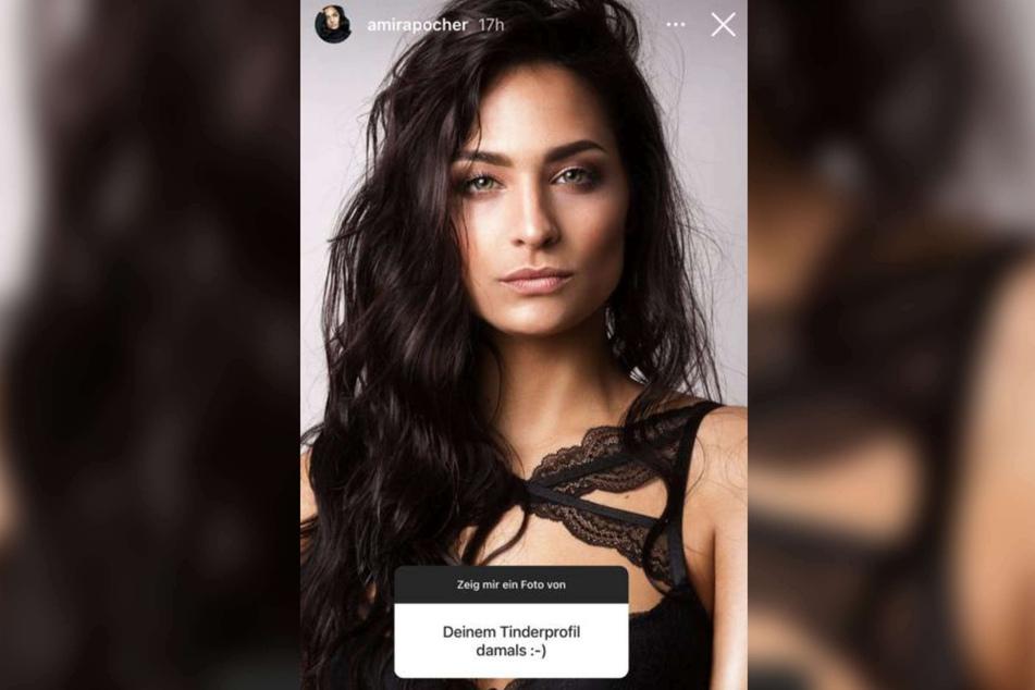 Amira Pocher (28) zeigte bei Instagram ihr ehemaliges Tinder-Foto, mit dem sie Oliver Pocher (43) kennenlernte.