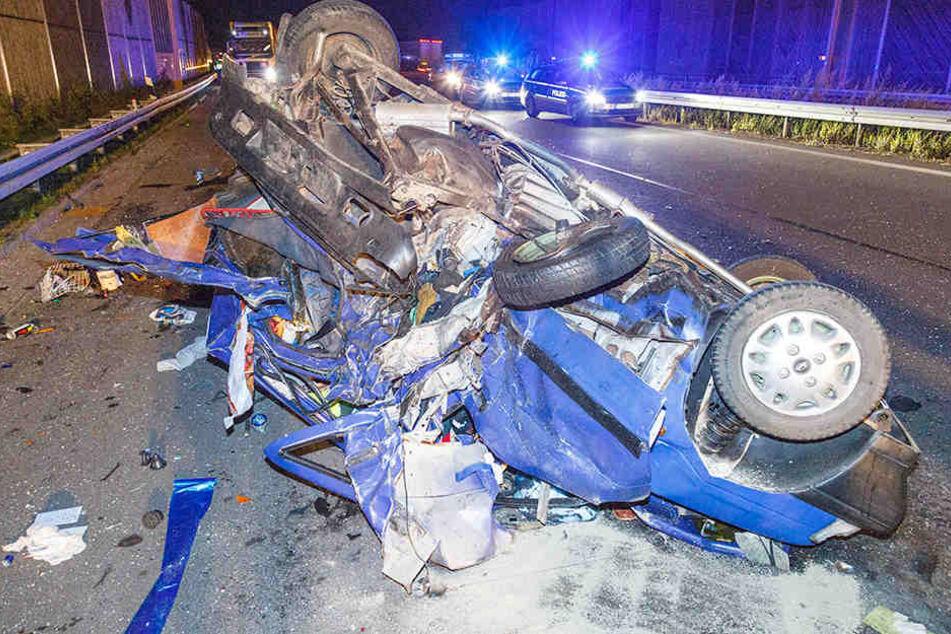 Im September verunglückte ein Daewoo auf der A72 bei Stollberg. Beide Insassen mussten ins Krankenhaus.