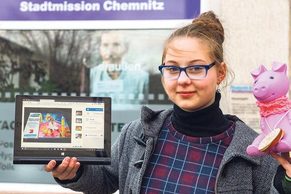 Chemnitz: Sie spendet ihr Taschengeld: Diese Schülerin (14) hilft unseren Obdachlosen