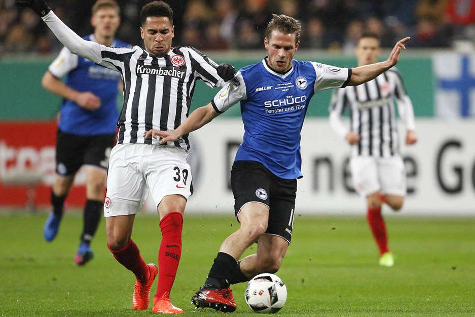 Sören Brandy hat im DFB-Pokal gegen Eintracht Frankfurt sein letztes Spiel für den DSC gemacht.