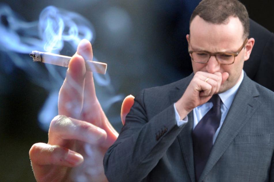 Gesundheitsminister Jens Spahn (37, CDU) will Raucher nicht bestrafen. (Bildmontage)