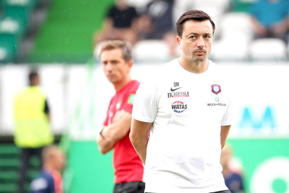 Daniel Meyer (rechts) durfte mit dem FC Erzgebirge Aue einen Auftaktsieg in Fürth bejubeln.