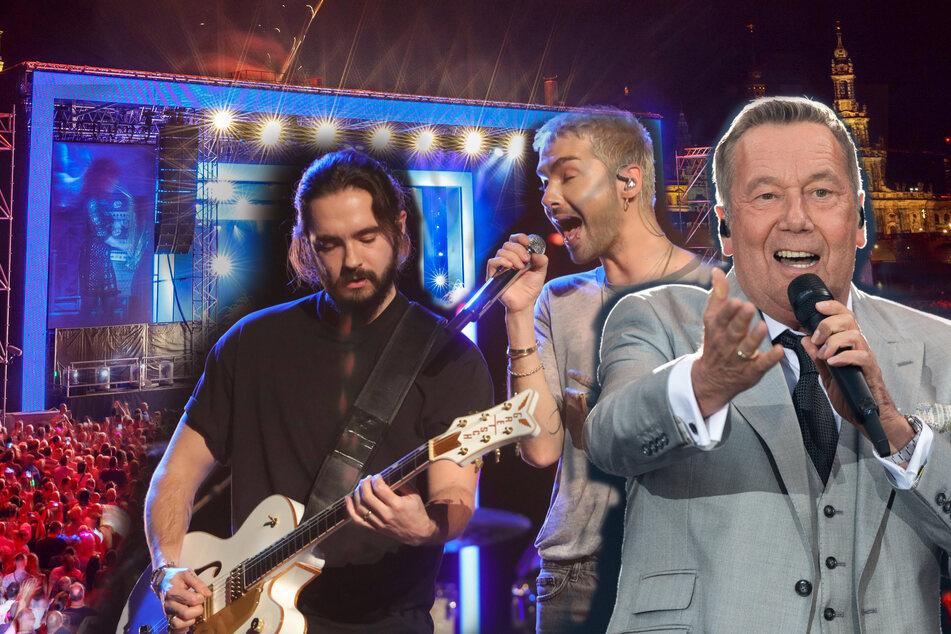 Unter anderem Roland Kaiser und Tokio Hotel wollen 2021 sächsische Bühnen rocken.