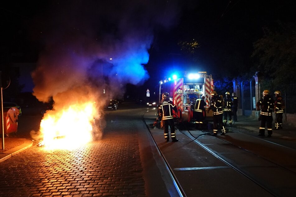 Die Feuerwehr konnte die Flammen löschen.