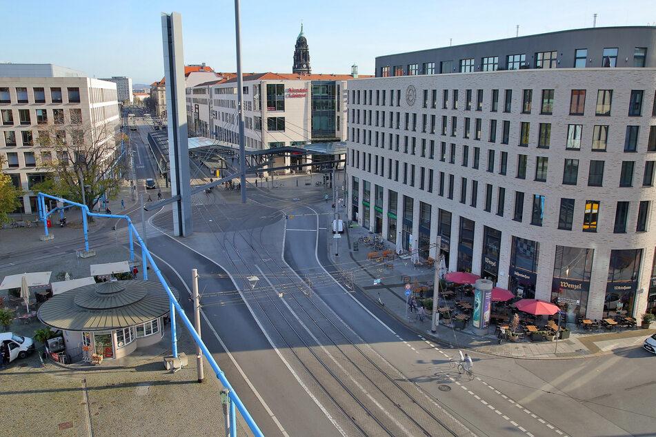 Dresden: Erfolgsgeschichte Postplatz: Aber ist er auch sicher genug für Fußgänger?