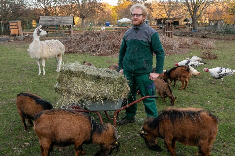 Überglücklich! Nach dem TAG24-Bericht erhielt Tierparkchef Sven Näther (44) säckeweise Futter und auch viele Geldspenden.
