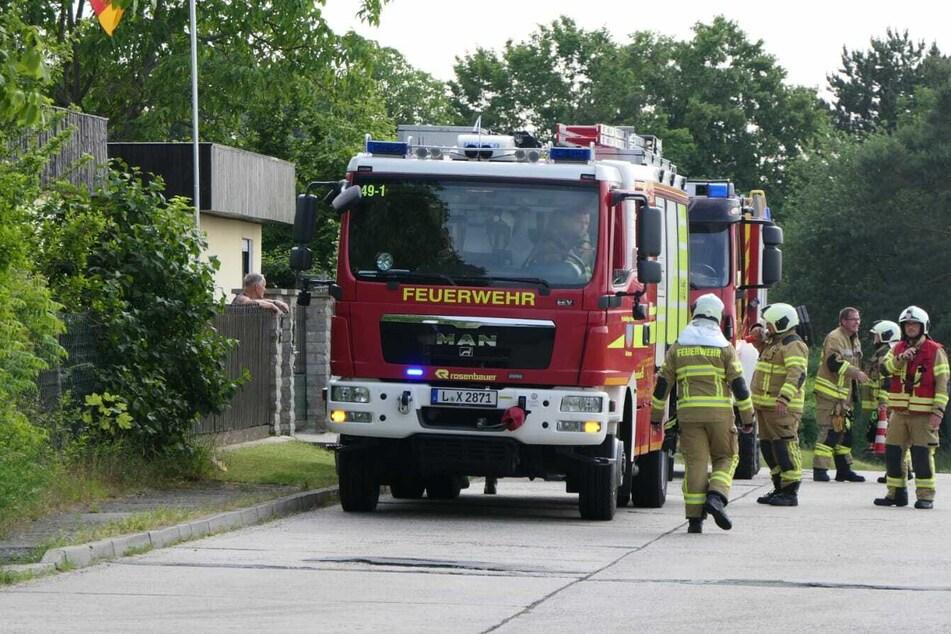 Die Feuerwehr in Grimma konnte den Brand im Waldbardauer Forst schnell unter Kontrolle bringen.
