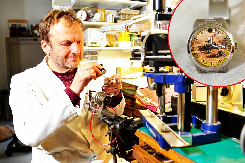 Chemnitz: Mit Steinen vom Mars! Dieser Sachse baut besondere Armbanduhr